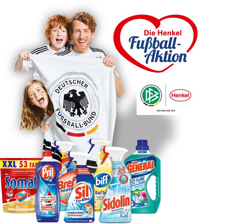 """Mindestens 3 Henkel Reinigungsmittel für 11€ kaufen und """"DFB-Badetuch"""" gratis geschickt bekommen"""