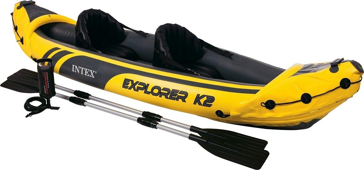 Intex Explorer K2 (aufblasbares Kajak für 1 Person + Bier) inkl I-beam, Paddel und Tasche bei Action für 65€