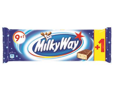 [Aldi Nord & Süd, Fr., 20.4. bis Sa., 21.4.] Milky Way je 215-g-Packung (10 Stück) 100-g-Preis –,69