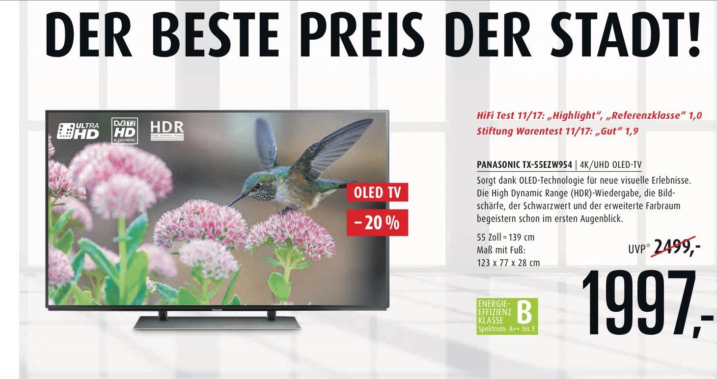 (Lokal Mainz Hifi-Profis) Panasonic Ezw 954 55 Zoll Oled-Tv