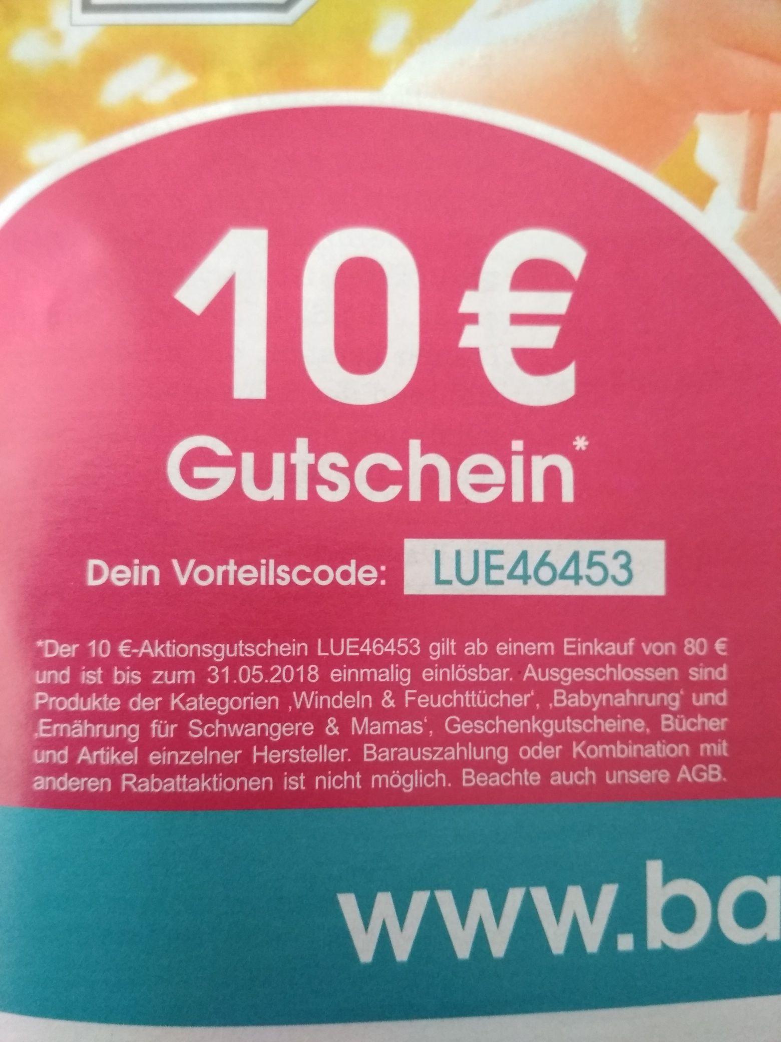 Babymarkt.de 10€ Gutschein - MBW  80€