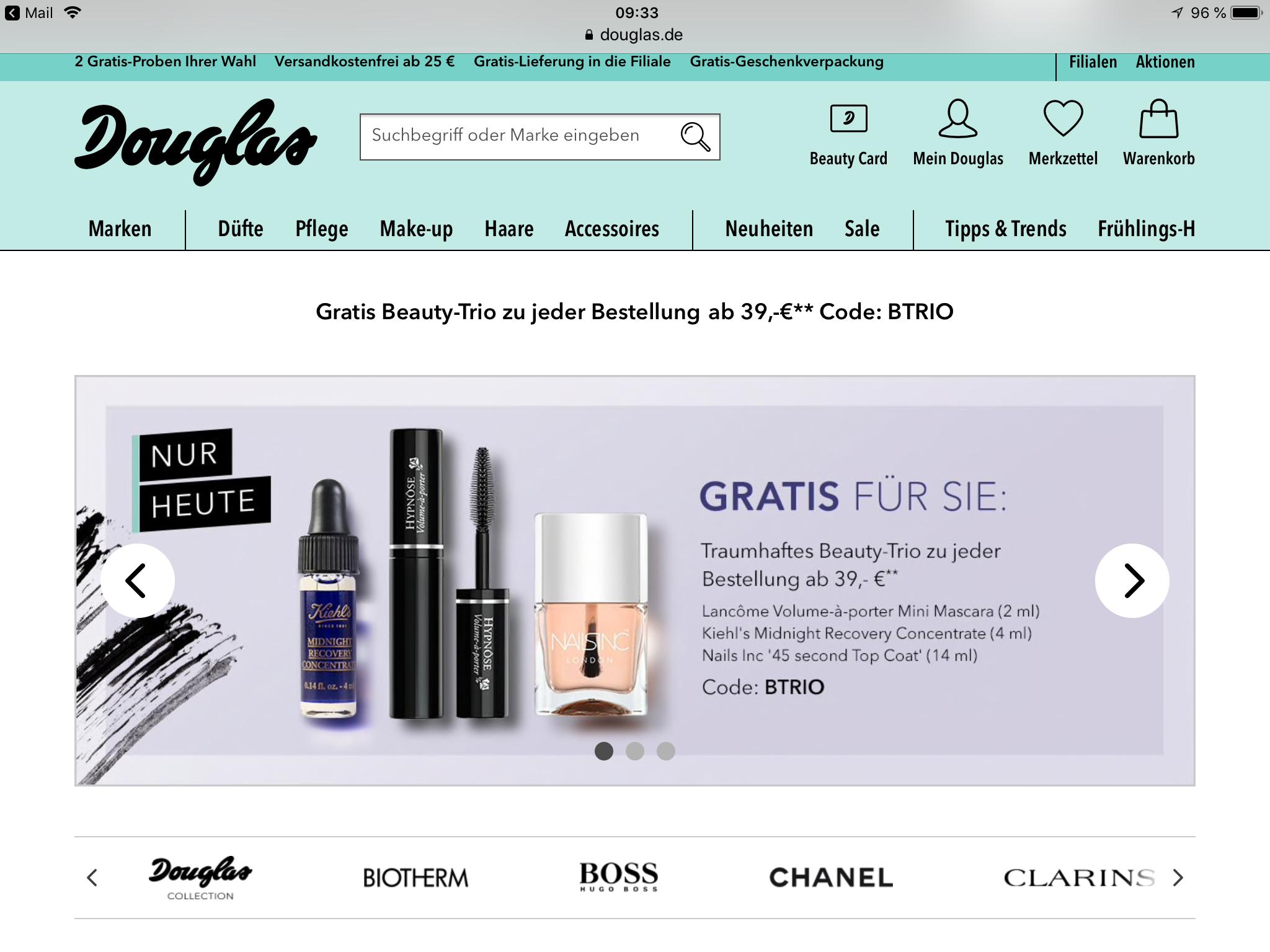 (Douglas) für Beautycardinhaber/innen diverse Gutscheine