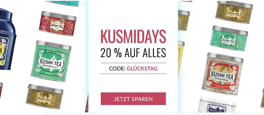 20% auf Alles bei Kusmi Tea (bis Sonntag)
