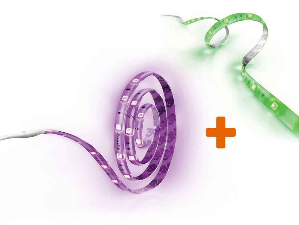 Philips hue LightStrip Plus Basisset (2m) inkl. LightStrip Plus Erweiterung (1m)