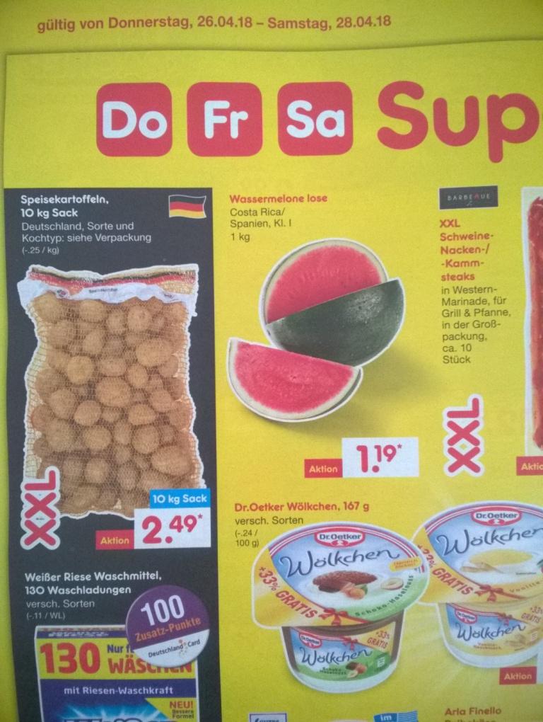 Netto Marken-Discount - 10 kg Kartoffeln für 2,49€ / 26.4.18 - 28.4.18