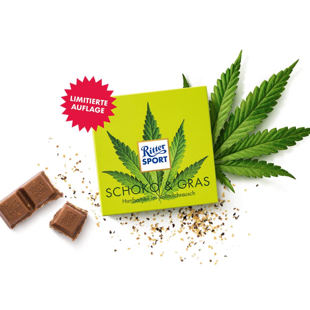 Legal & limitiert - RITTER SPORT Schoko & Gras