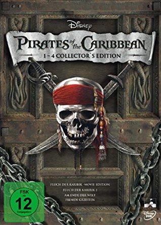 Pirates of the Caribbean - Die Piraten Quadrologie (5 Disc Blu-rays) für 17,99€ versandkostenfrei (Saturn)