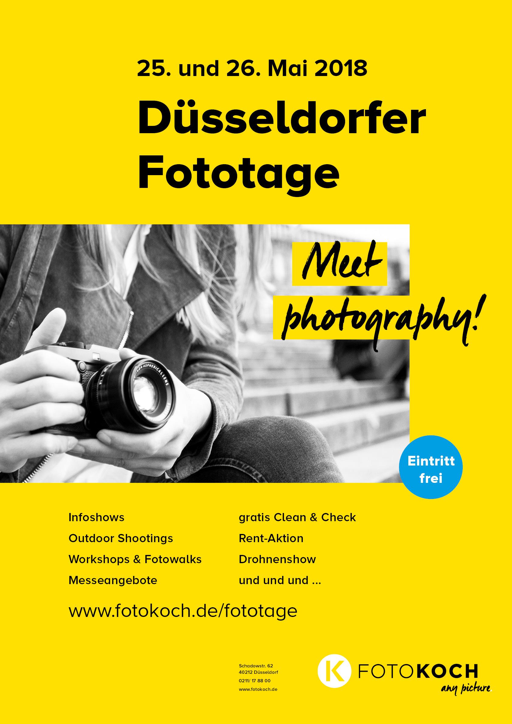 (Lokal) Düsseldorfer Fototage 25. und 26. Mai 2018 - gratis Clean und Check: Canon, Nikon, Sony