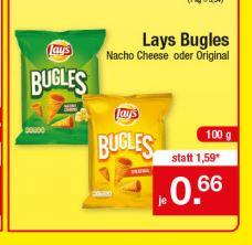 Zimmermann Lays Bugles Nacho Cheese oder Original für 0,66 € ab 23.04.18
