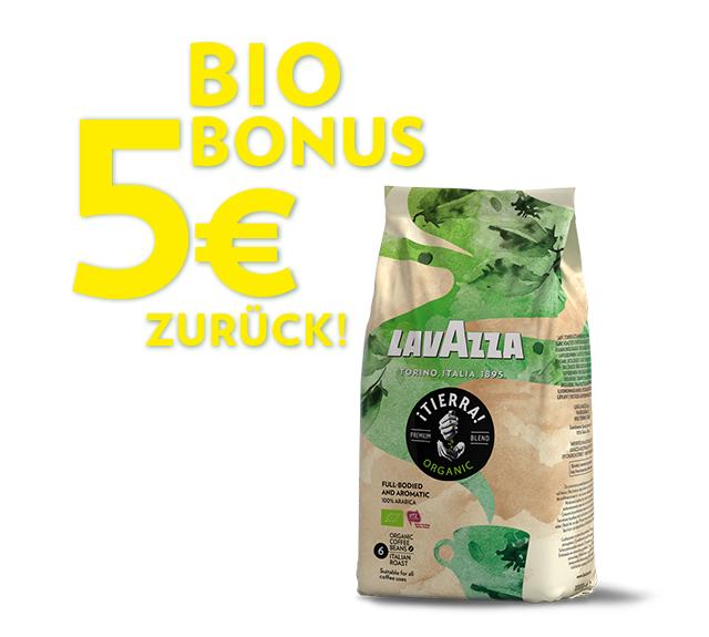 """Lavazza ¡Tierra! Organic - 5 Euro """"Bio Bonus"""""""
