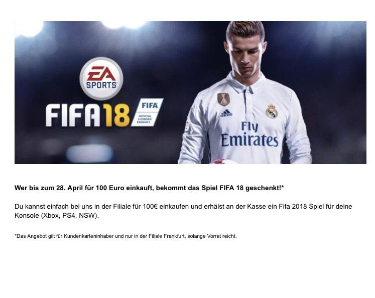 [LOKAL] [FRANKFURT] FIFA 18 gratis bei einem Einkaufswert ab 100€ (Conrad)