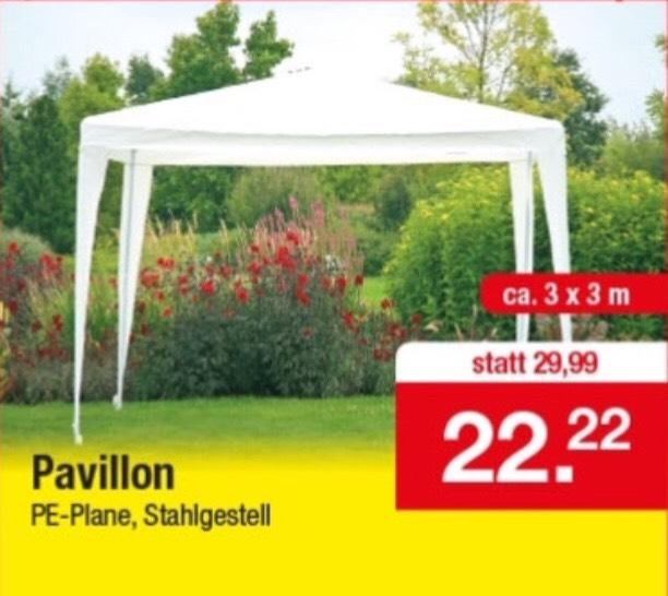 (Zimmermann Lokal) Pavillon 3x3 m
