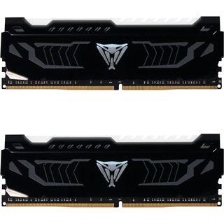 Patriot Viper LED weiß DIMM Kit 16GB, DDR4-3600, CL16-18-18-36 (PVLW416G360C6K)  für Ryzen 2000 Serie(?), Samsung B-Die Module