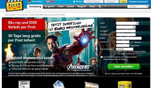 Video Buster: 30 Tage Gratis und 10 Euro auf´s Kundenkonto für alle Wechselwilligen
