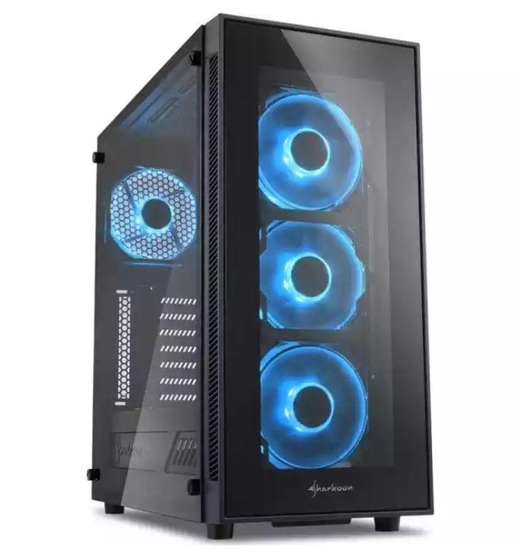 Sharkoon TG5 blau PC-Gehäuse