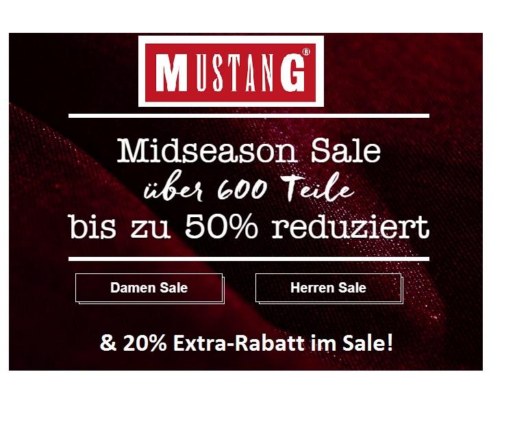 Mustang Jeans: Jetzt 20% Extra-Rabatt im Sale!!!