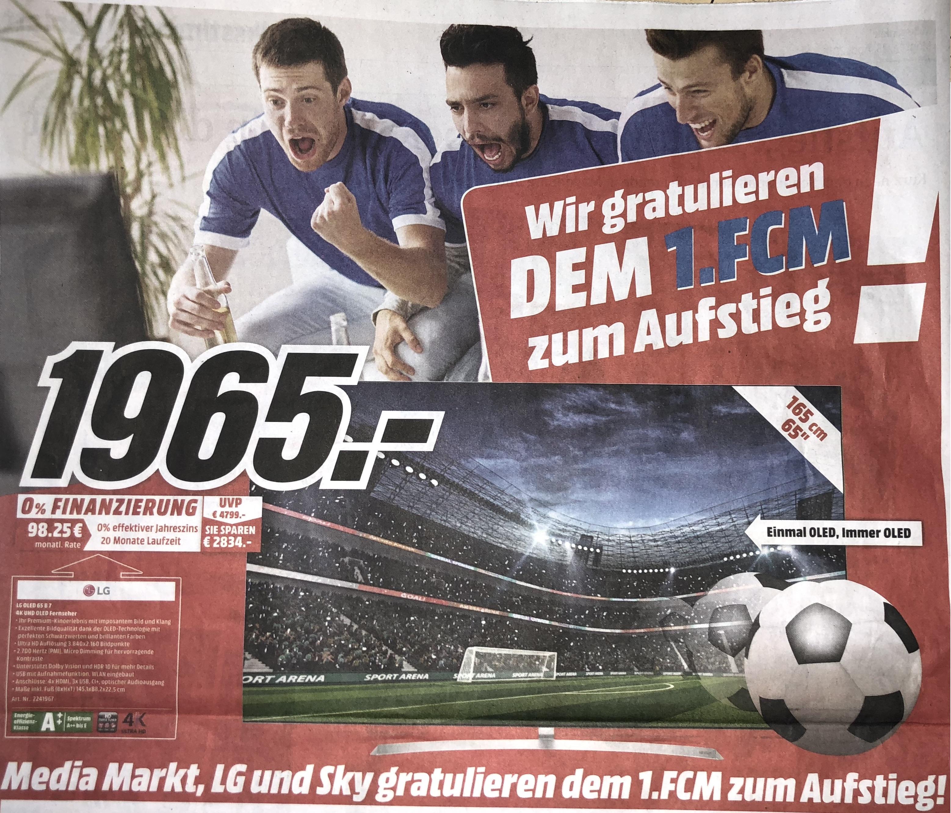 (Lokal Media Markt Magdeburg) LG OLED 65 B7D OLED TV