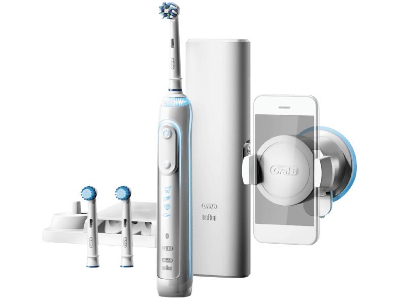 ORAL-B Genius 8000S elektrische Zahnbürste Weiß/Silber