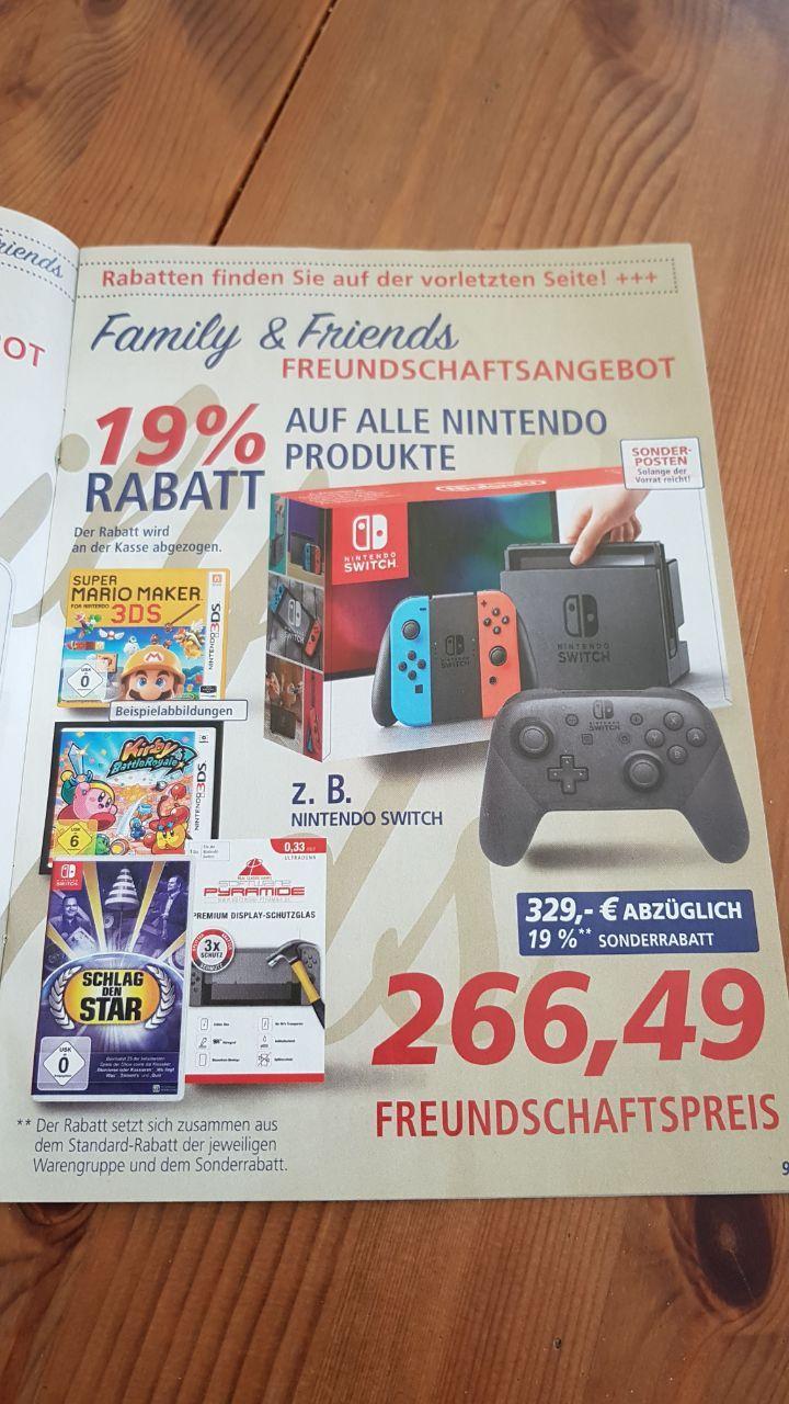 19% auf Nintendo 25% auf Lego @Real Persokauf Switch für 266,49