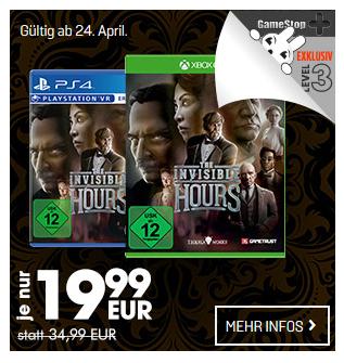 The Invisible Hours (PS4/Xbox One) für je 19,99€ ( GameStop+ Level 3 Mitglieder)
