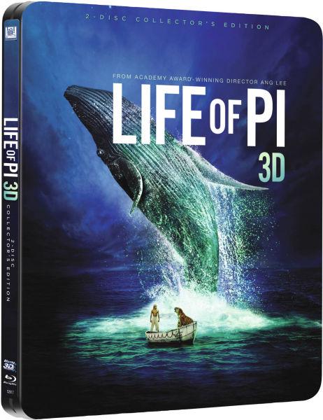 Life of Pi 3D - Limited Edition Steelbook (Blu-ray 3D + Blu-ray + UV Copy) für 10,65€ (Zavvi)