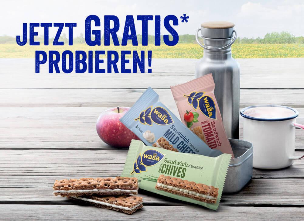 (GzG) Wasa Sandwich Multipack - Gratis testen