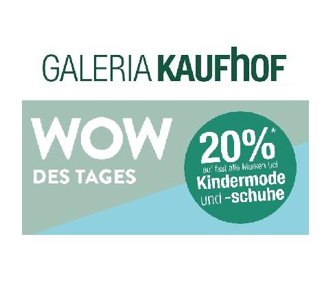 Heute bei Galeria Kaufhof: 20% Rabatt auf Kindermode- und schuhe!