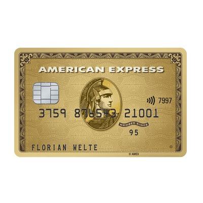 American Express Gold Karte + 50 € Startguthaben + 100€ Gutschein + 1 Jahr kostenlos