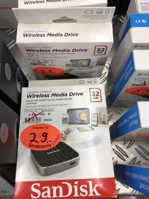 SanDisk Connect Wireless Media Drive 32 GB ( Lokal in Expert Wunstorf)