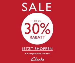 Bis zu 30% Rabatt + 10€-Neukunden-Gutschein im Clarks-Sale
