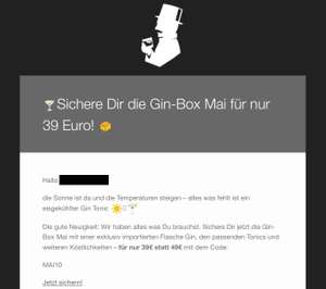 [Liquid Director] Gin Box mit Flasche Gin + Tonic Water + Booklet + Extras