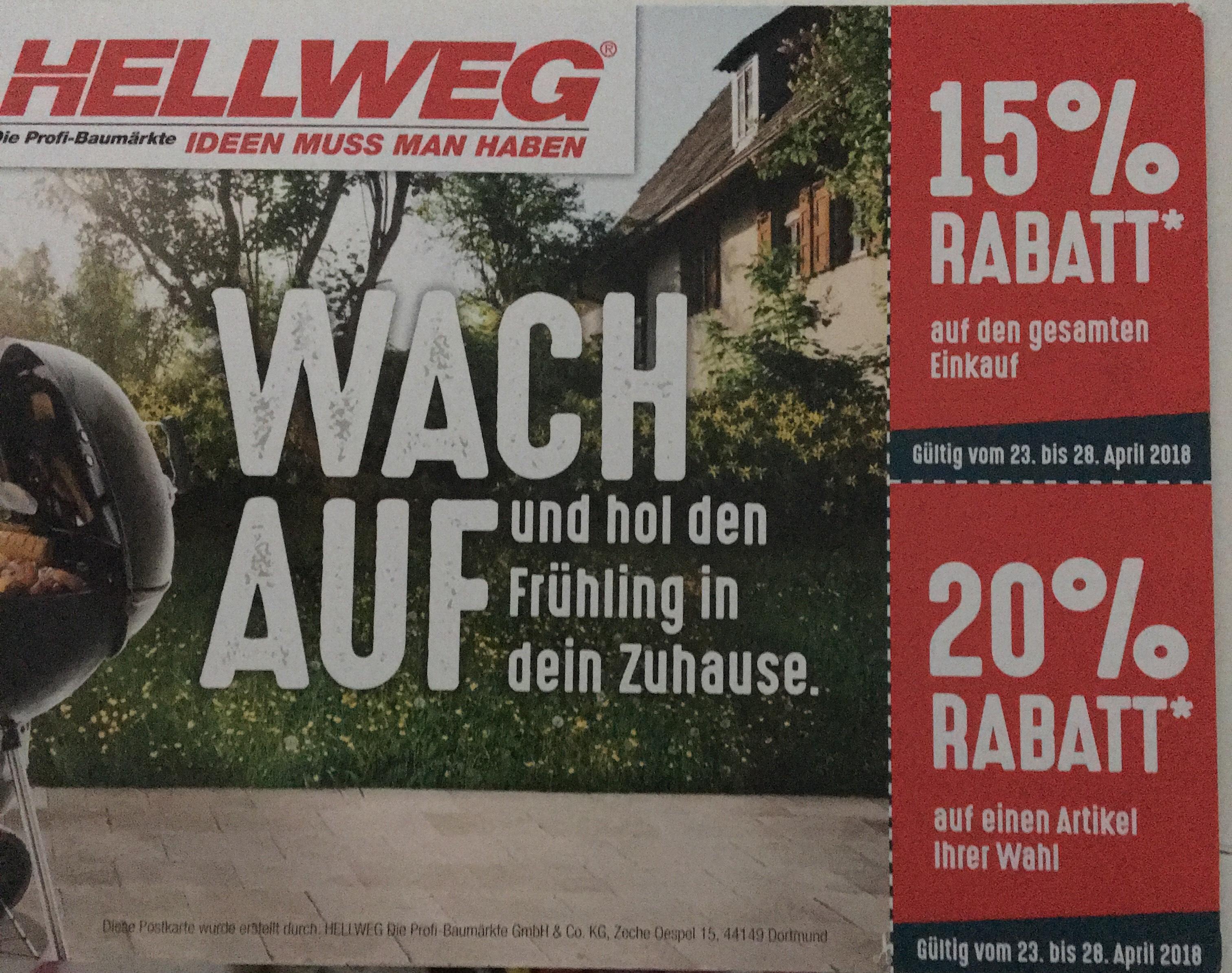Hellweg 20% Coupon