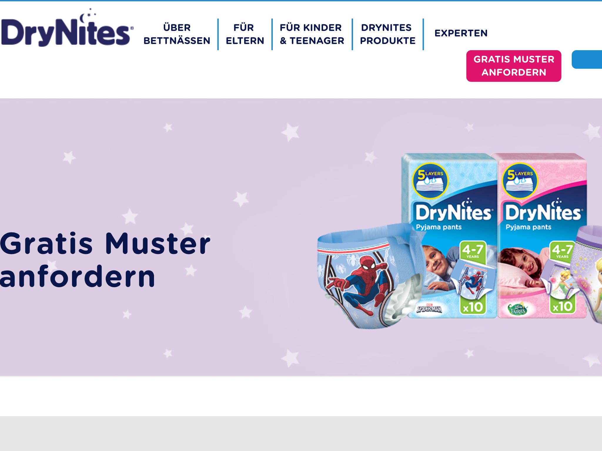 (DryNites) Kinder-Windel-Probe gratis