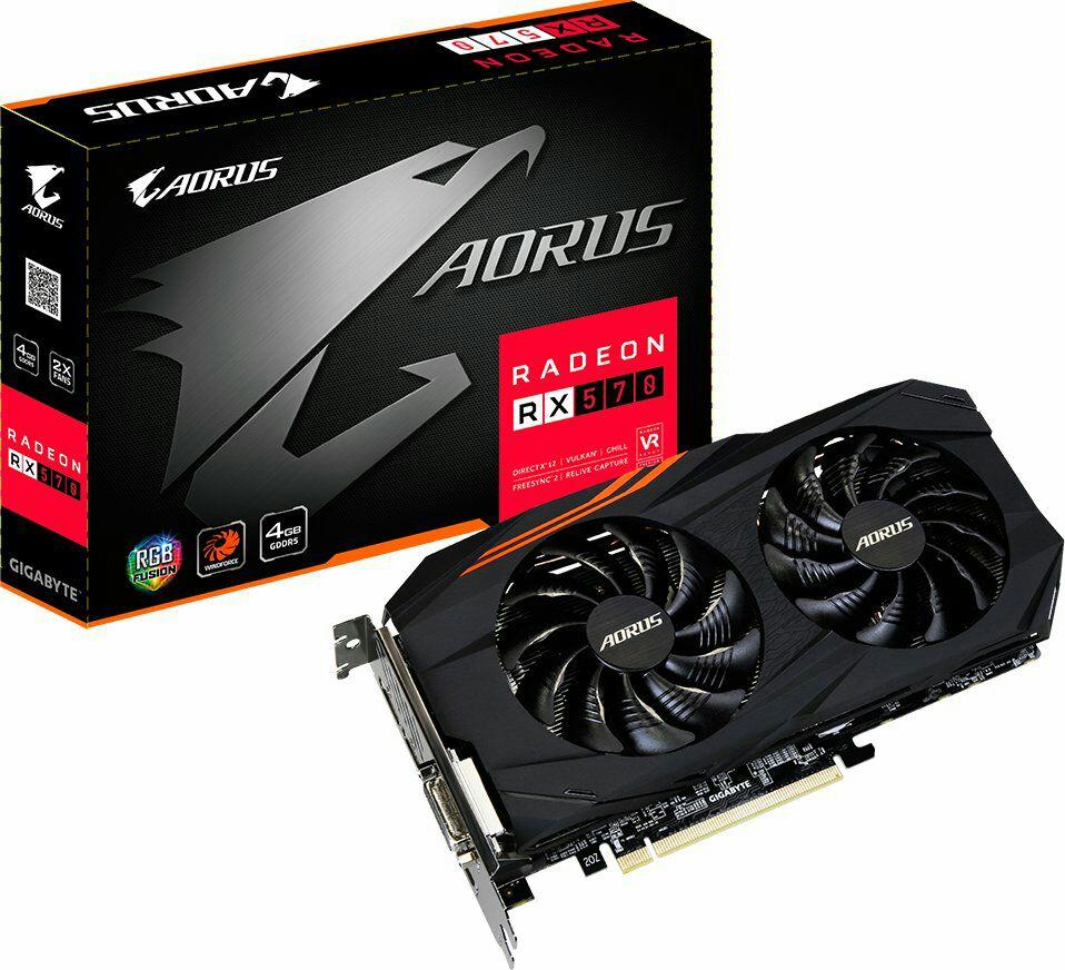 Gigabyte Aorus Radeon RX 570 4G Grafikkarte - 4 GB (Amazon.es)