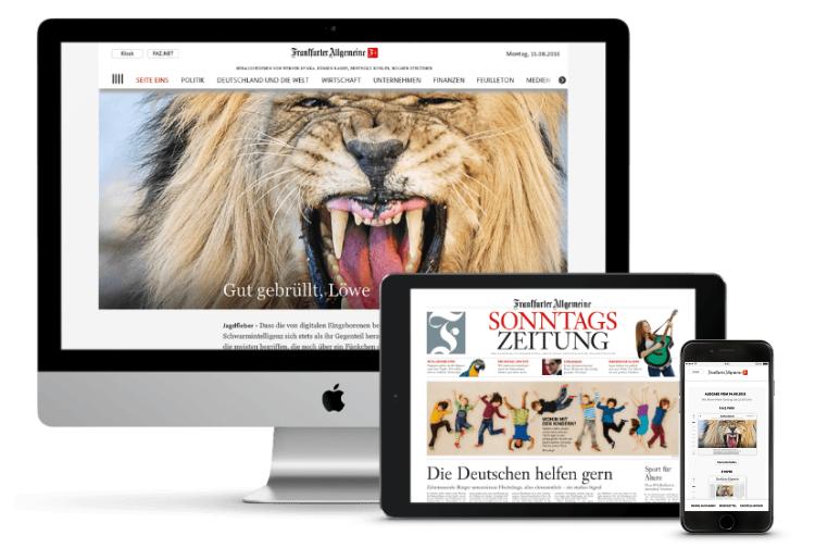 FAZ Digital für Schüler/Studenten 1 Jahr lang 80% günstiger