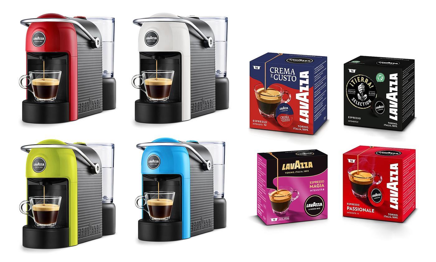 Lavazza A Modo Mio Jolie Kapsel-Kaffeemaschine,1.250 W, 10 Bar inkl. 69 Kaffee-Kapseln @ Groupon