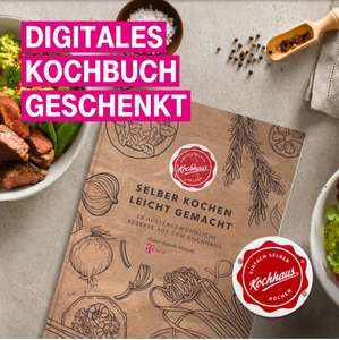 [Telekom Mega-Deal] Digitales Kochbuch geschenkt