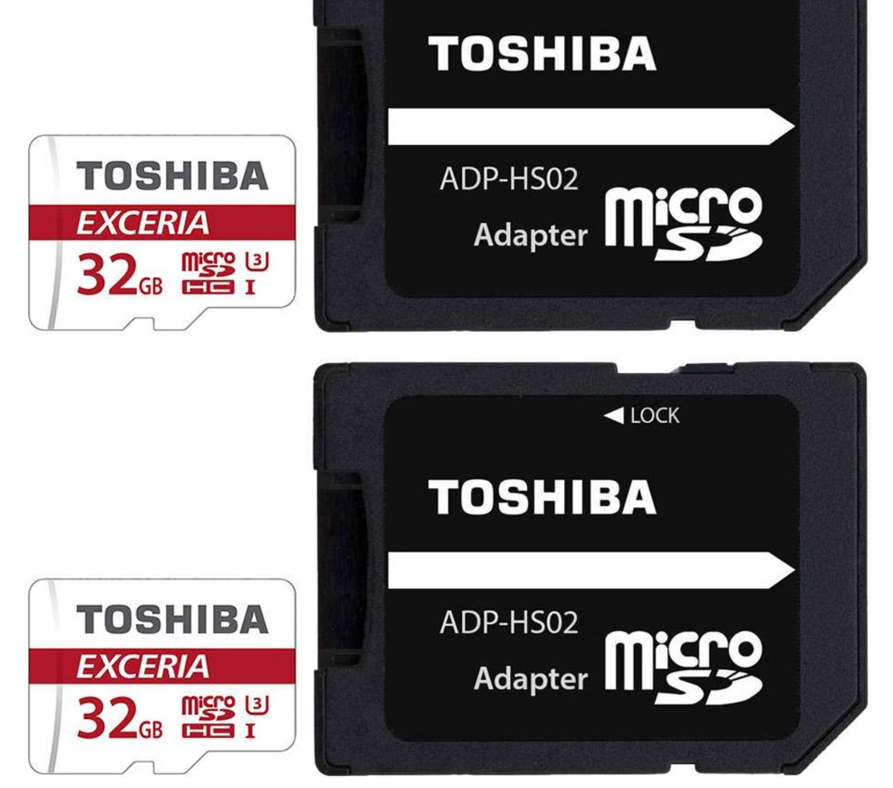2x Toshiba Exceria M302 32GB microSD (U3) für 20€ [7Dayshop]