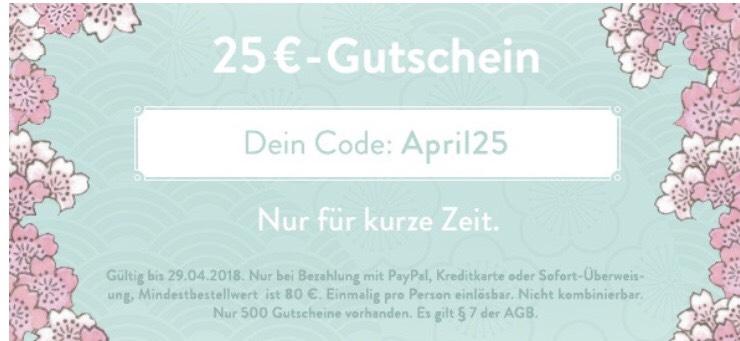 [B4F] 25€ Gutschein ab 80€ MBW, versandkostenfrei ab 75€