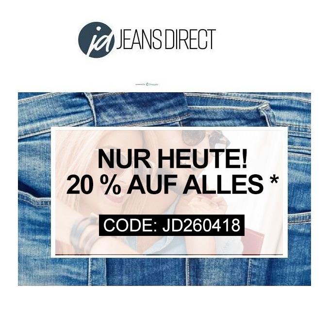 Jeans-Direct: Heute 20% Rabatt auf ALLES* – auch im Sale!
