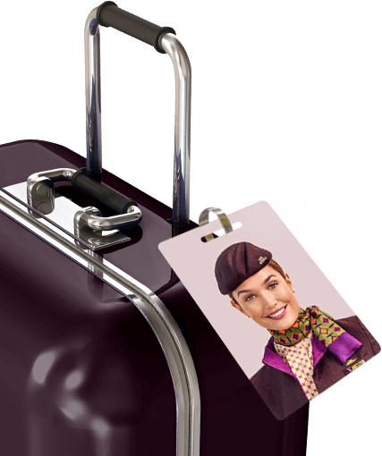 Kostenloser personalisierbarer Kofferanhänger von Etihad