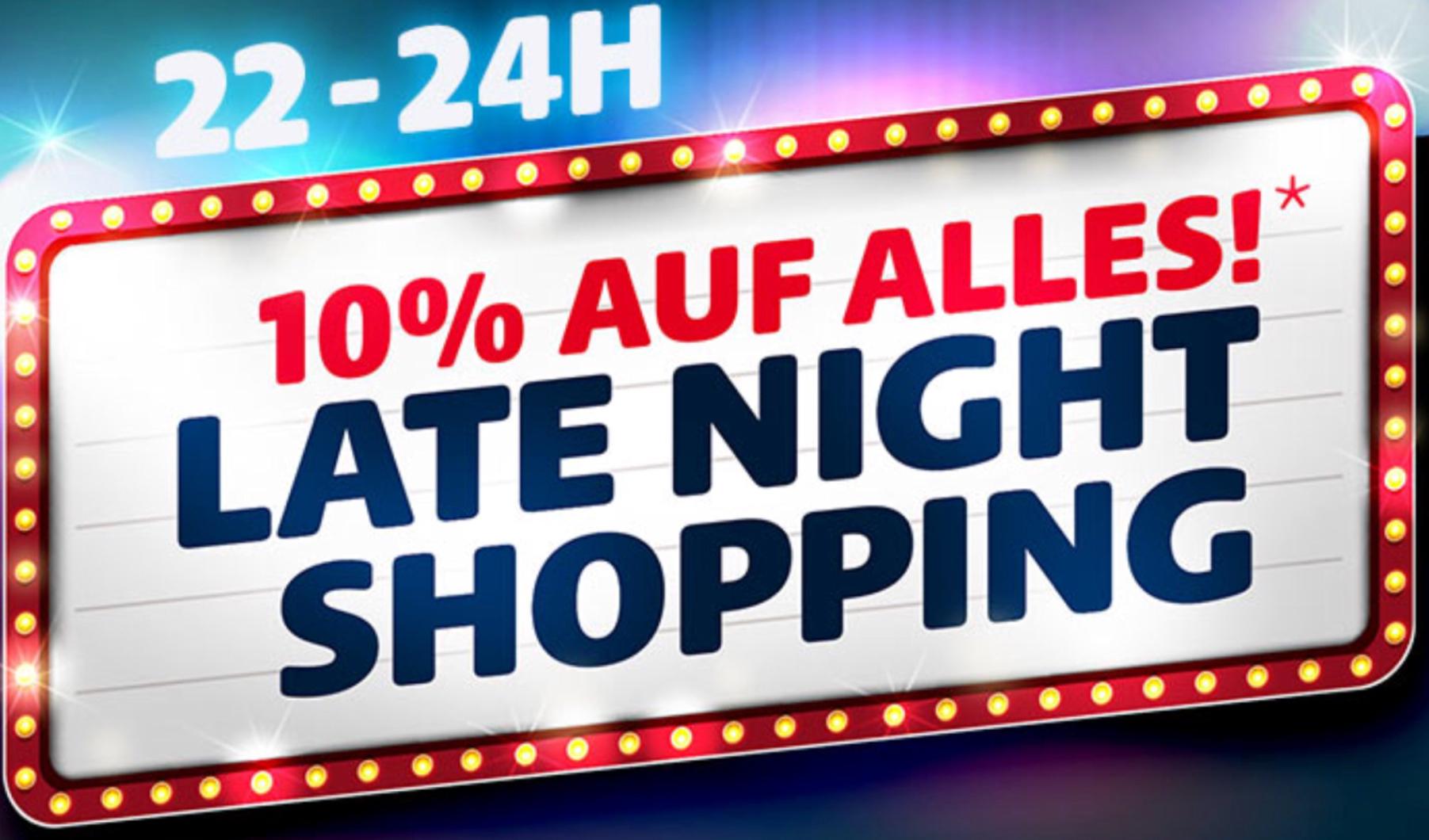Late Night Shopping vom 27.04. - 29.04. jeweils 22-24 Uhr - 10% auf alles! [hagebau]