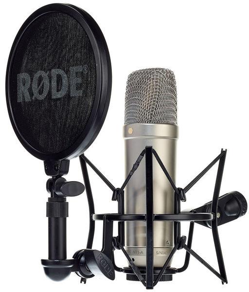 Rode NT1-A Kondensator-Studiomikrofon inkl. Spinne, Popschutz und 6m XLR Kabel