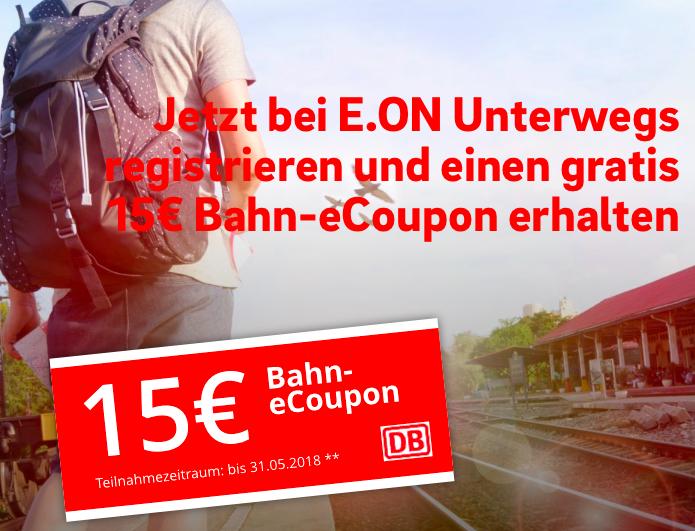 15€ Bahn eCoupon für EON-Kunden (29€ MBW)