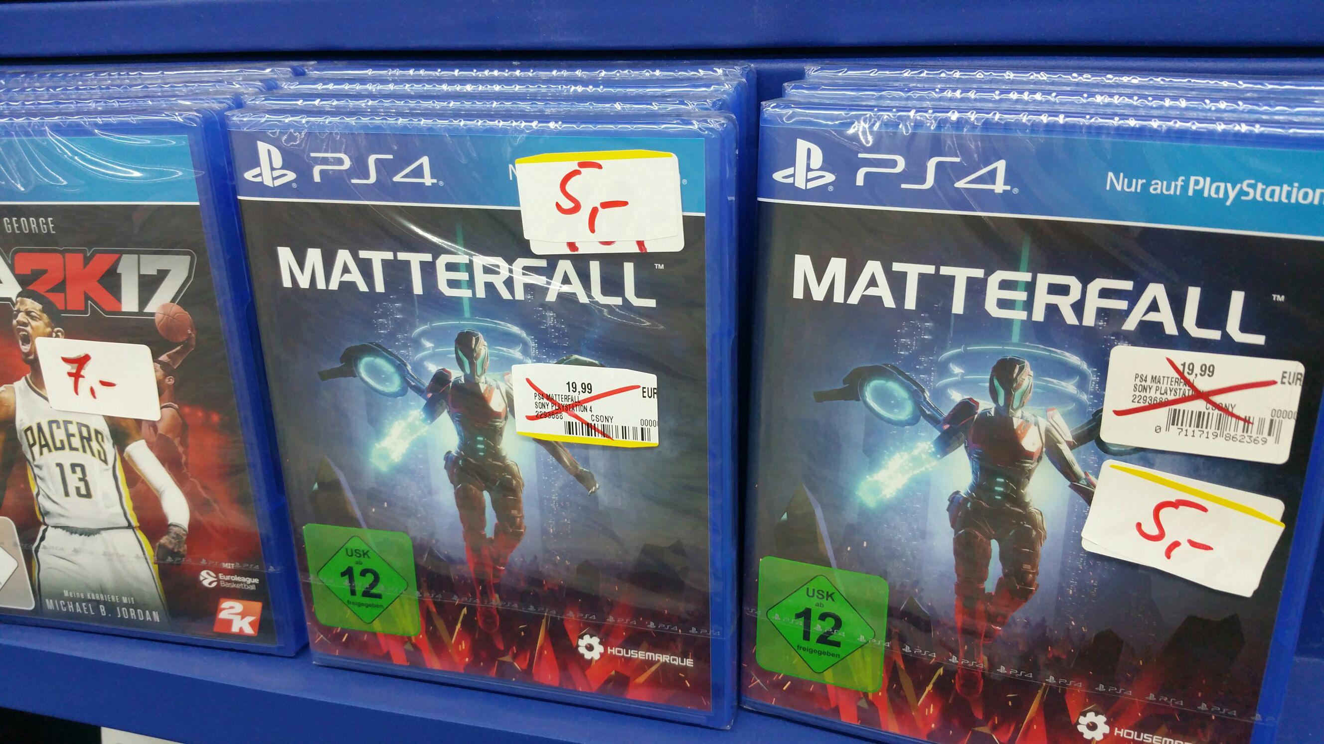 [MediaMarkt Potsdam] Matterfall für 5€ + NBA 2K17 für 7€ (PS4)