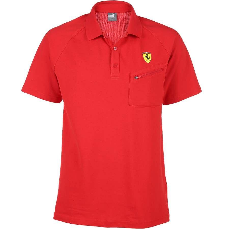 Puma Herren Poloshirt mit Mesheinsatz und Ferrari-Logo