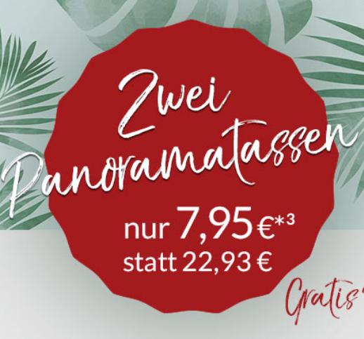 Zwei Panorama-Tassen mit Motiv für nur 7,95€ inkl. Versand