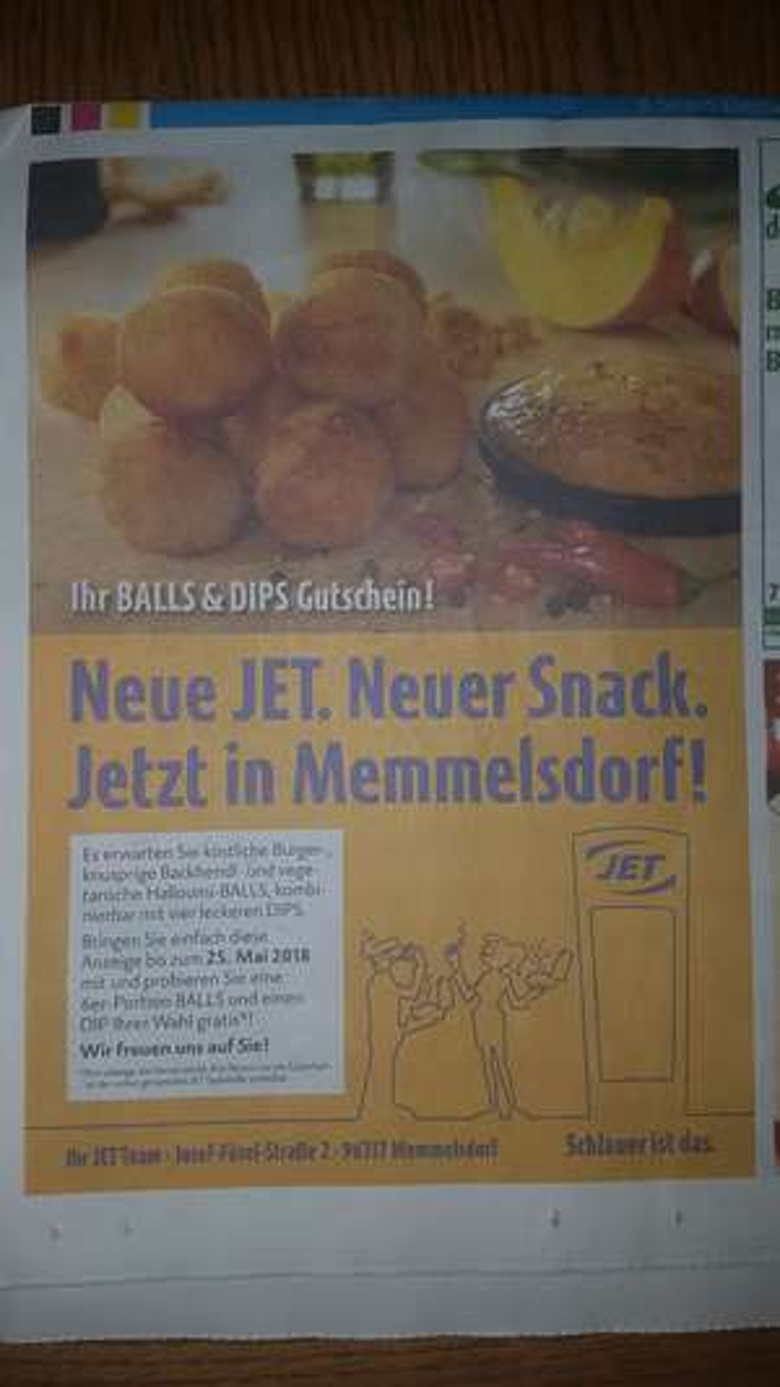 JET Tankstelle - BALLS & DIPS Gutschein - Memmelsdorf / Landkreis Bamberg