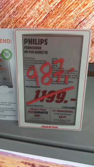 [Lokal] [Media Markt Elmshorn] Philips 65PUS6262 987,-