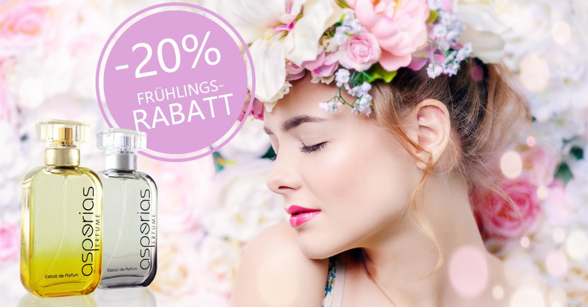 20% FRÜHLINGS-RABATT bei  Asperias auf alle Parfüms (Dupes)